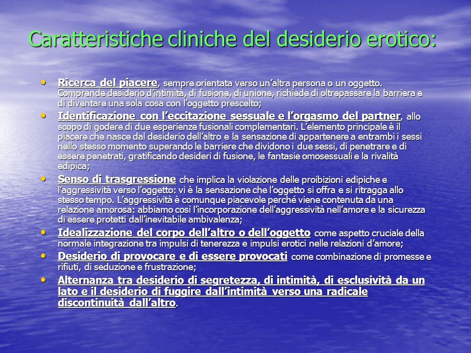 Caratteristiche cliniche del desiderio erotico: