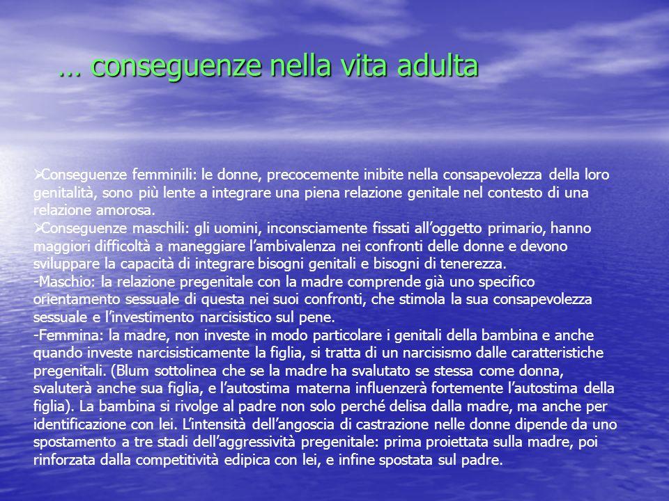 … conseguenze nella vita adulta