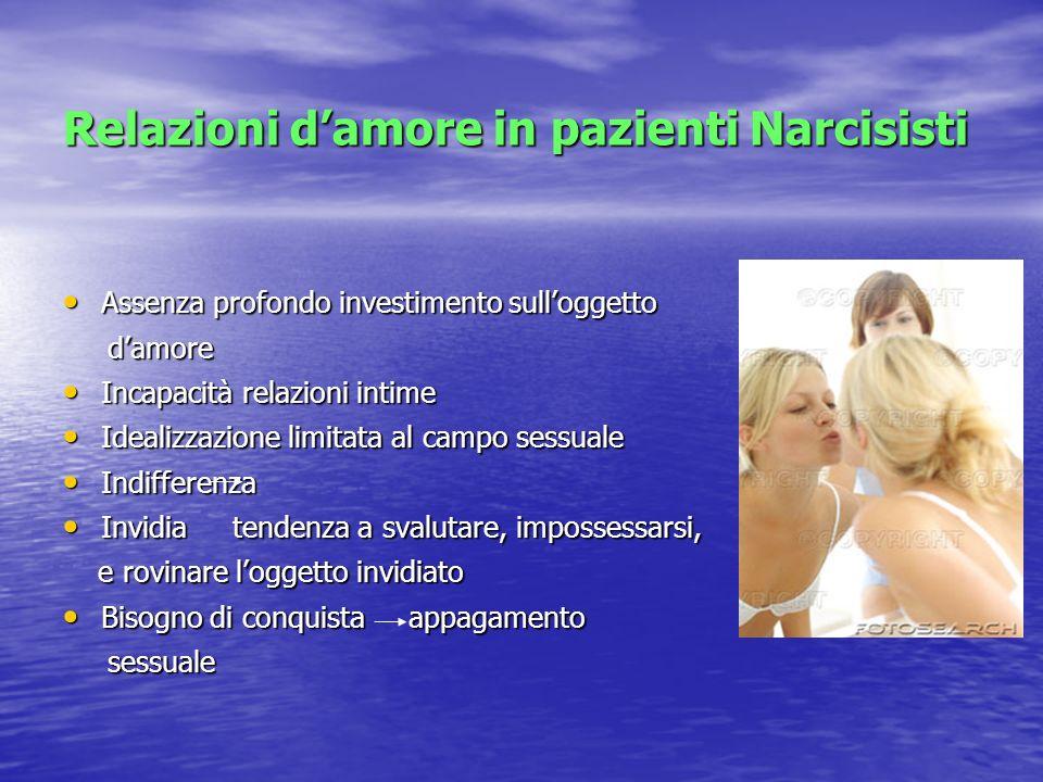 Relazioni d'amore in pazienti Narcisisti