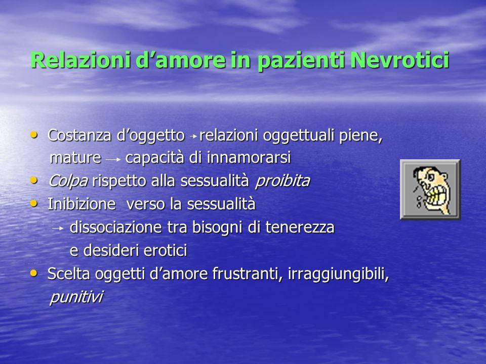 Relazioni d'amore in pazienti Nevrotici