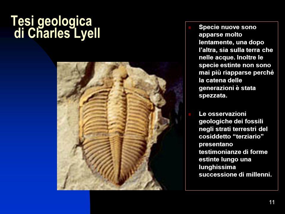Tesi geologica di Charles Lyell