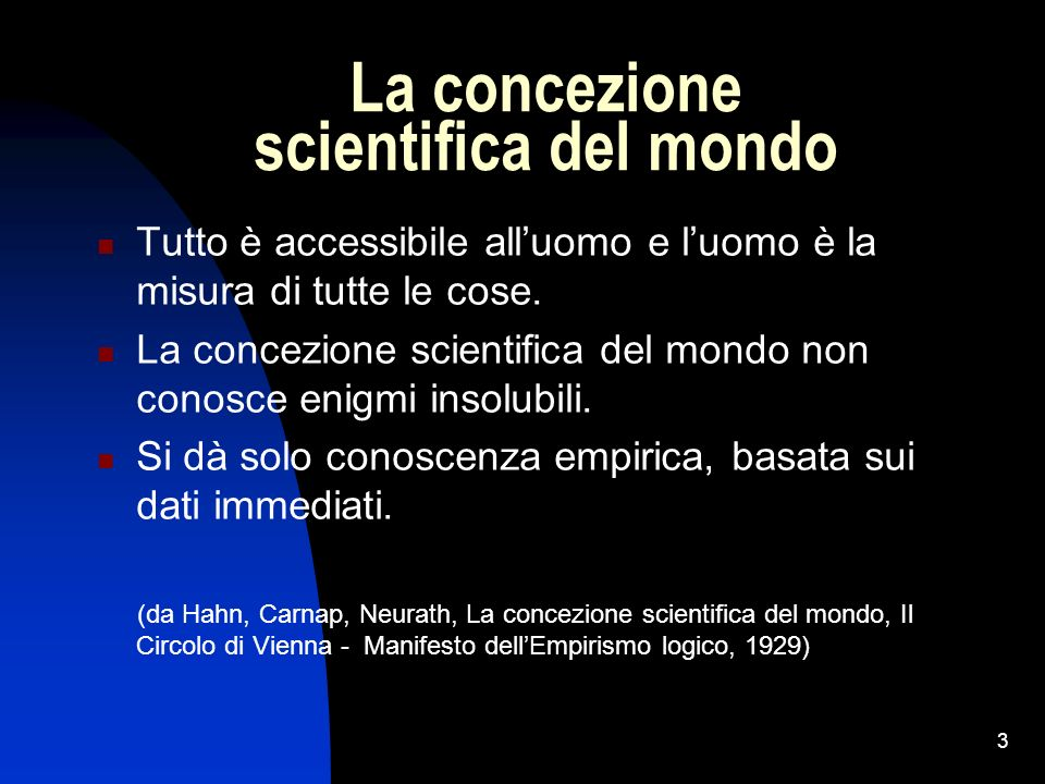 La concezione scientifica del mondo