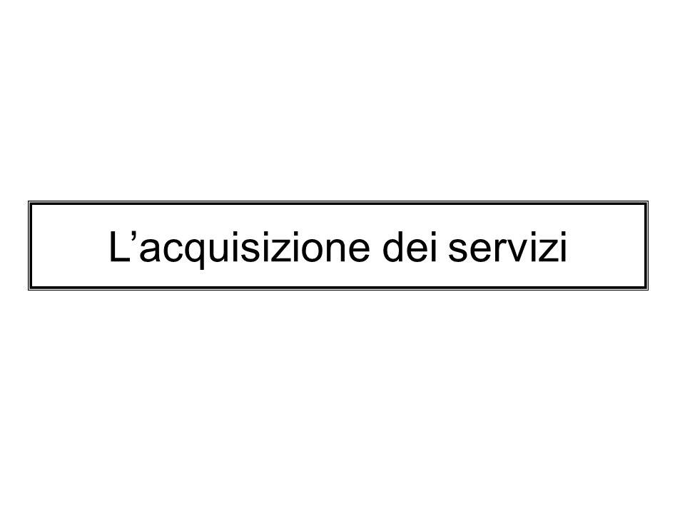 L'acquisizione dei servizi