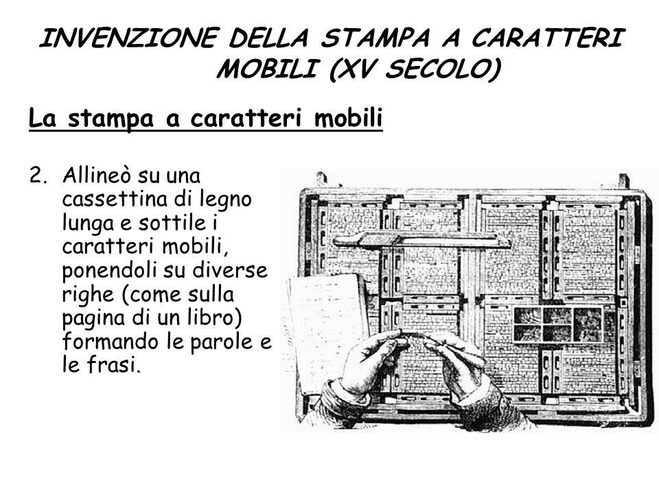 INVENZIONE DELLA STAMPA A CARATTERI MOBILI (XV SECOLO)