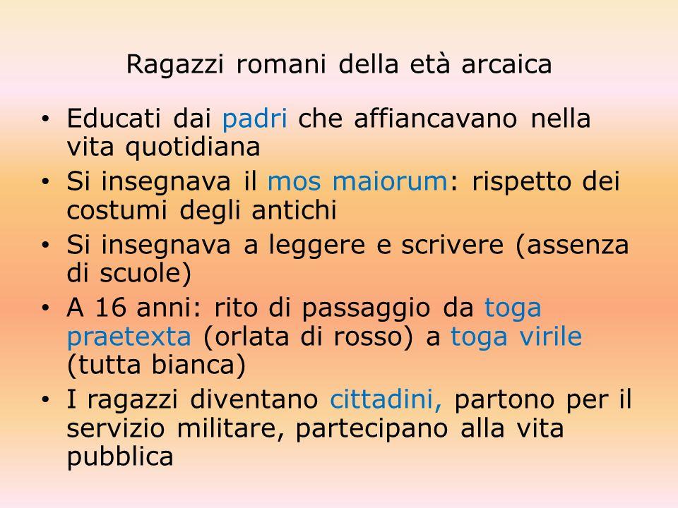 Ragazzi romani della età arcaica