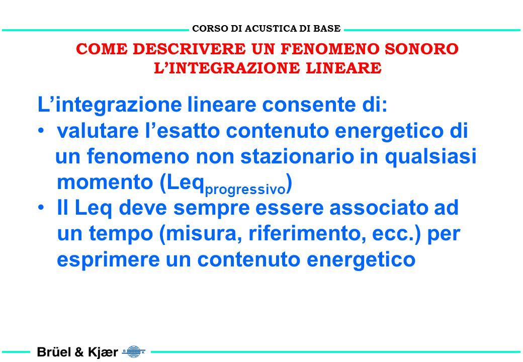 L'integrazione lineare consente di: