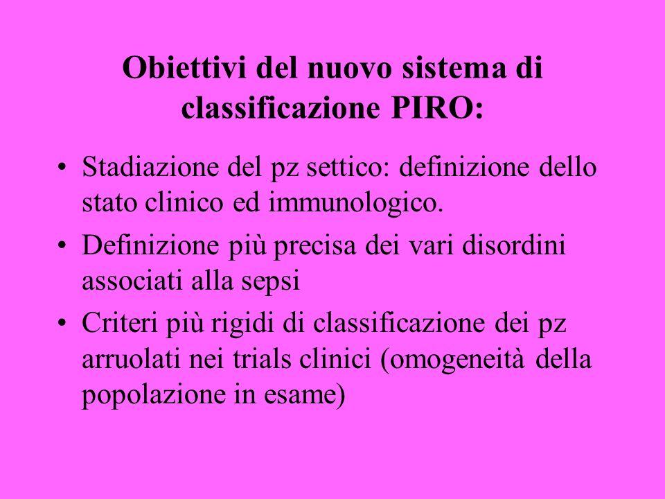 Obiettivi del nuovo sistema di classificazione PIRO: