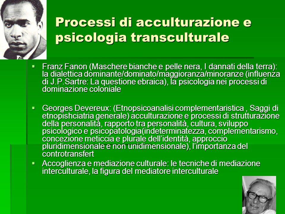 Processi di acculturazione e psicologia transculturale