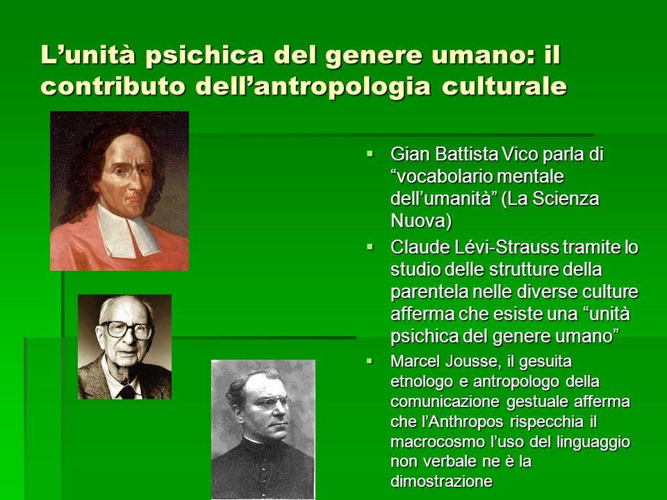 L'unità psichica del genere umano: il contributo dell'antropologia culturale
