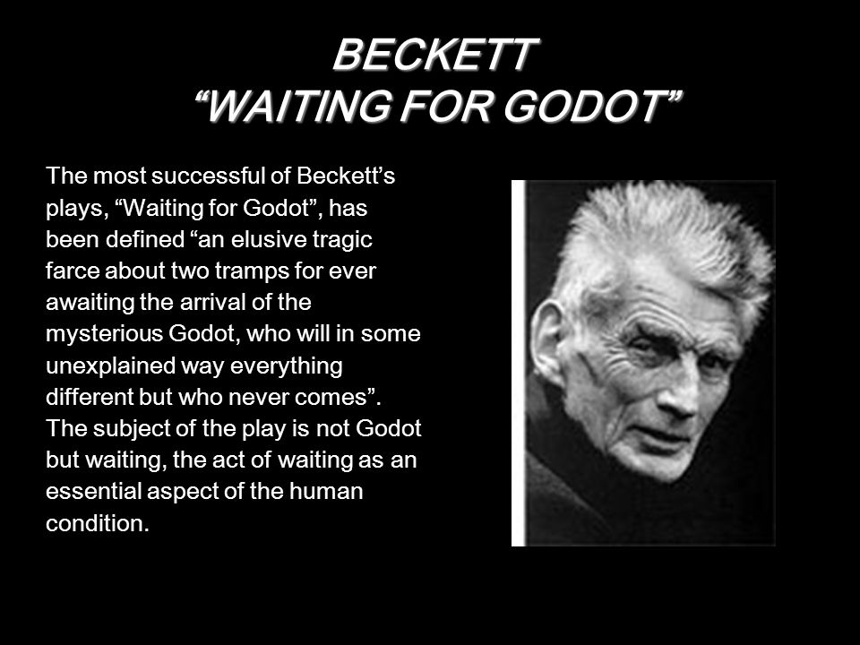 BECKETT WAITING FOR GODOT