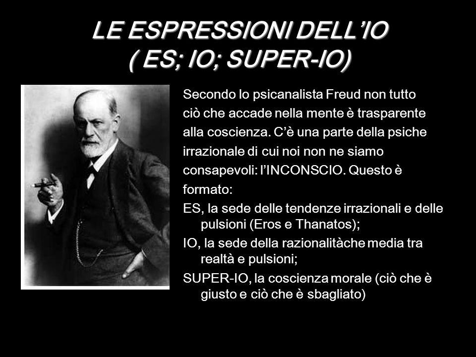 LE ESPRESSIONI DELL'IO ( ES; IO; SUPER-IO)