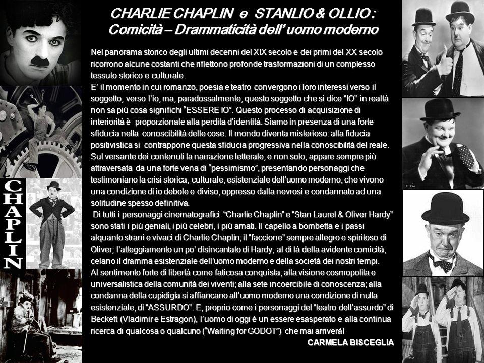 CHARLIE CHAPLIN e STANLIO & OLLIO : Comicità – Drammaticità dell' uomo moderno