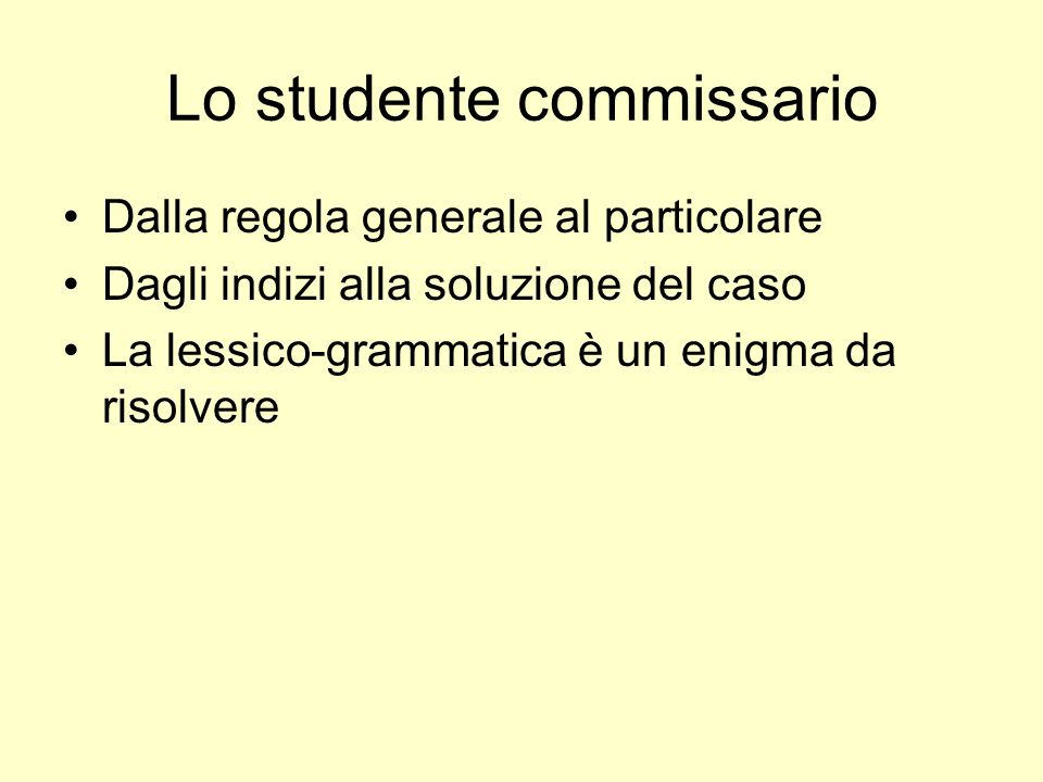 Lo studente commissario