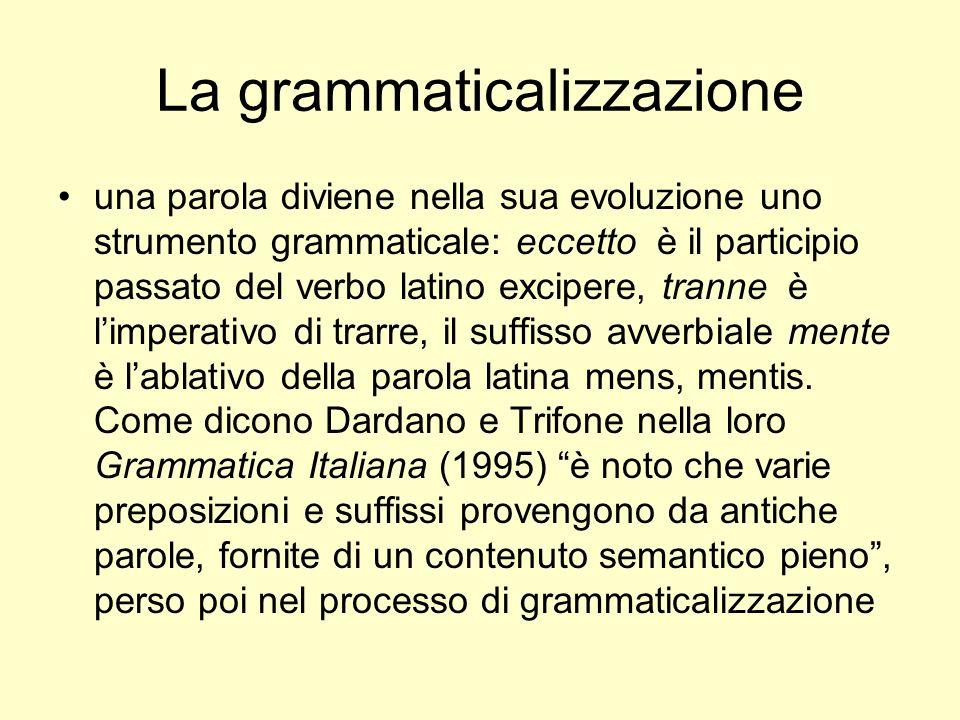 La grammaticalizzazione