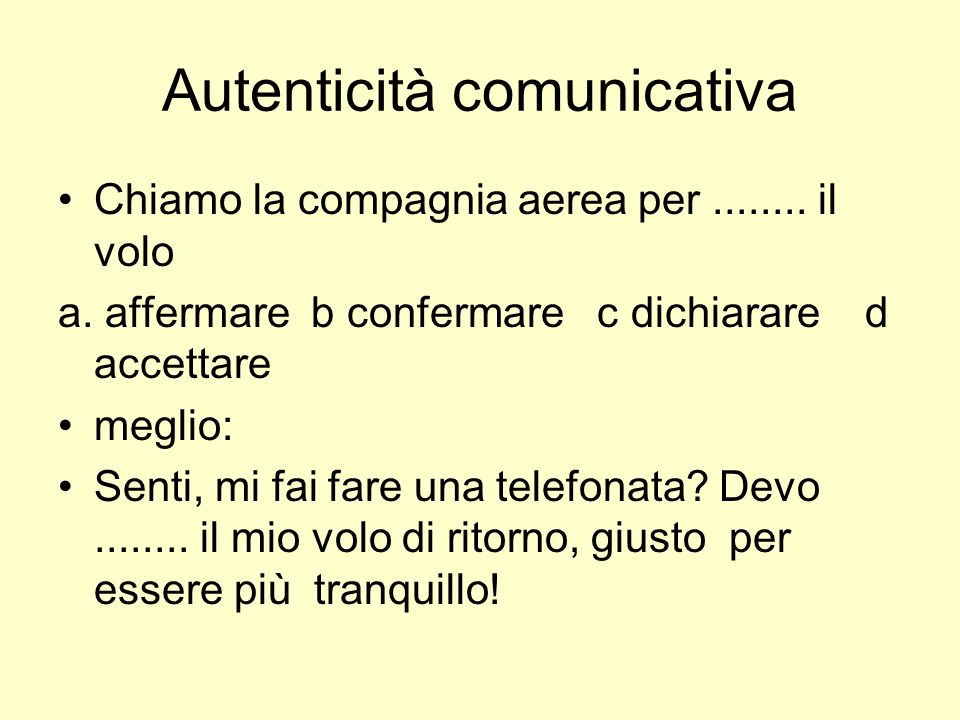 Autenticità comunicativa