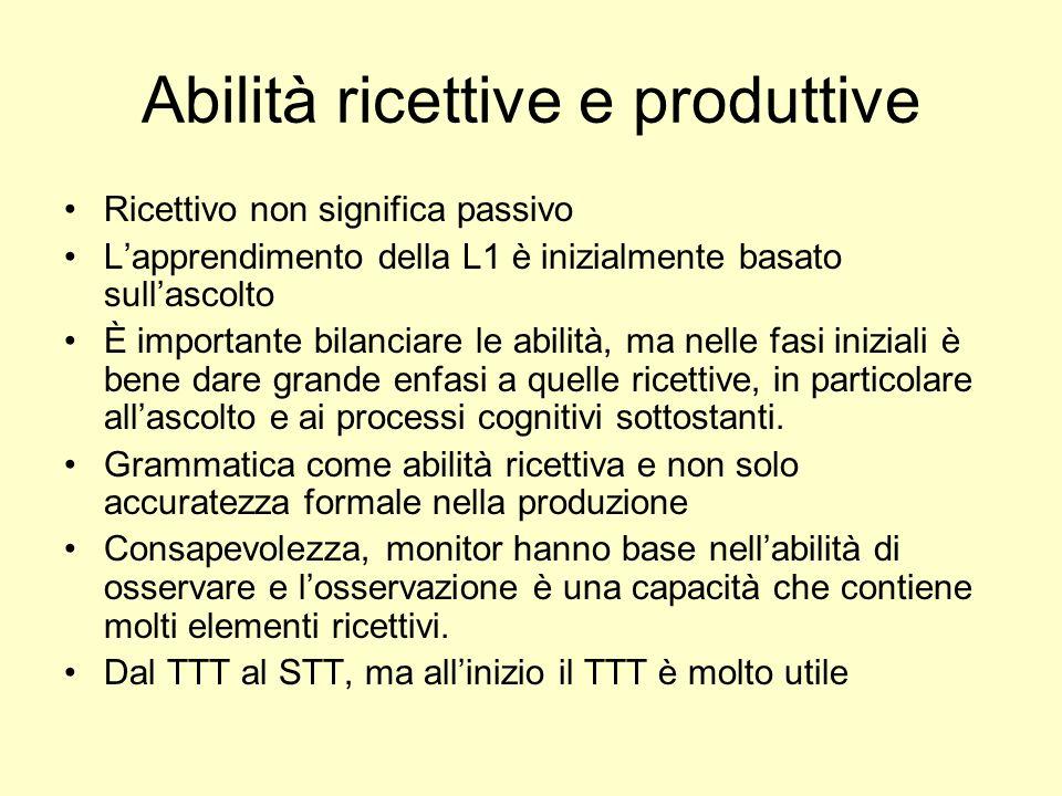 Abilità ricettive e produttive