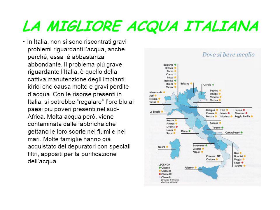LA MIGLIORE ACQUA ITALIANA