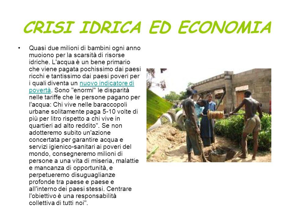 CRISI IDRICA ED ECONOMIA