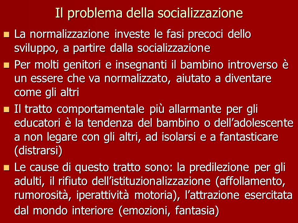 Il problema della socializzazione