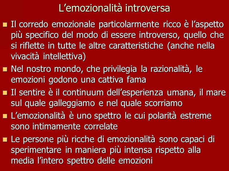 L'emozionalità introversa