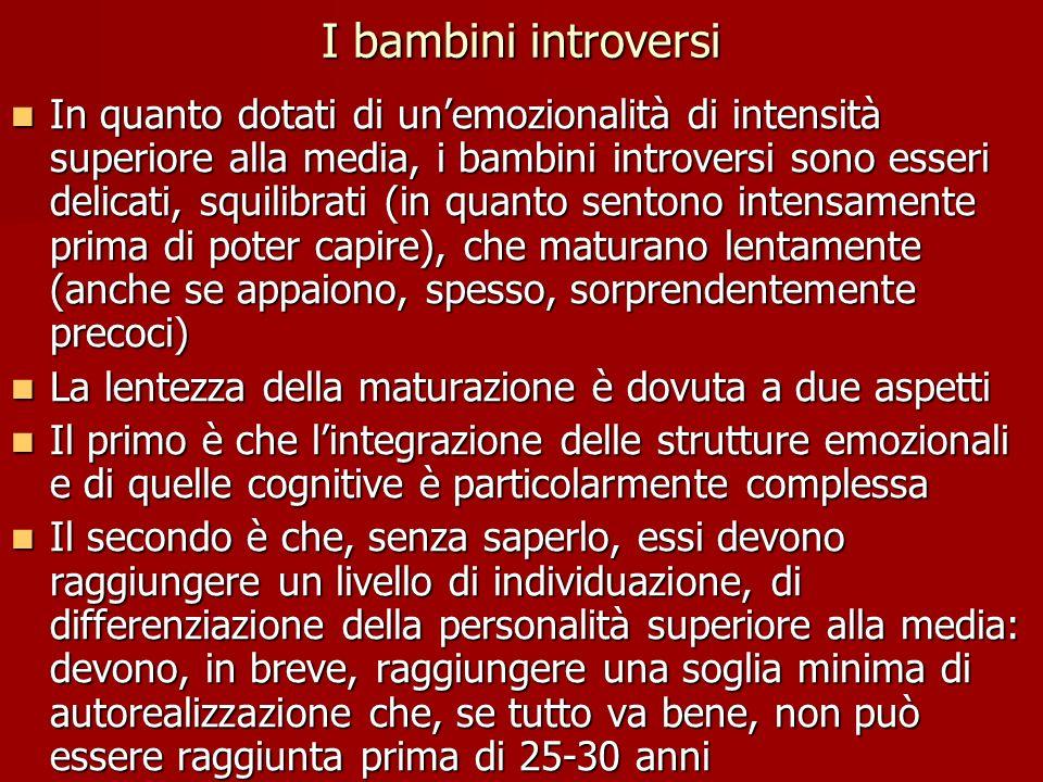 I bambini introversi