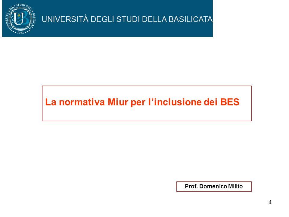 La normativa Miur per l'inclusione dei BES