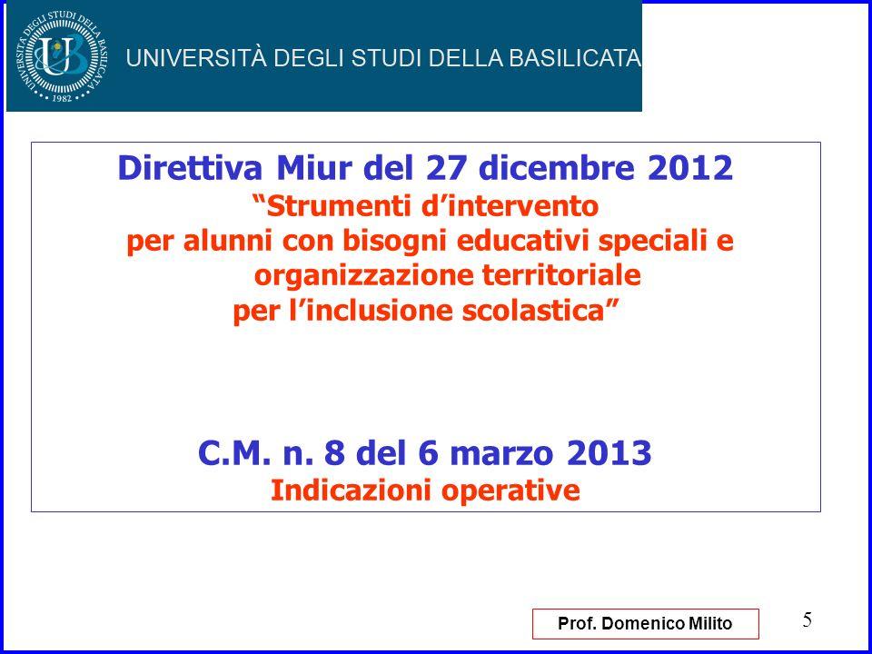 Direttiva Miur del 27 dicembre 2012 C.M. n. 8 del 6 marzo 2013