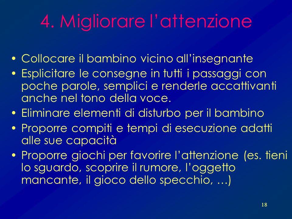 4. Migliorare l'attenzione