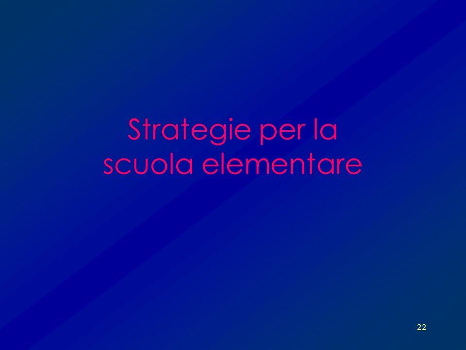 Strategie per la scuola elementare