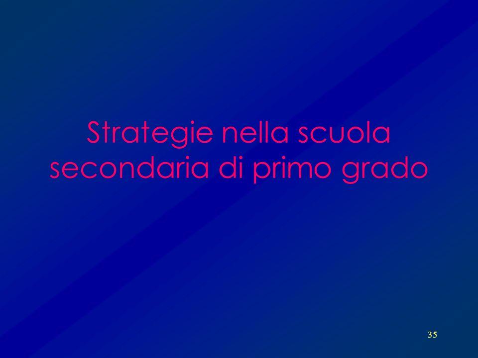 Strategie nella scuola secondaria di primo grado
