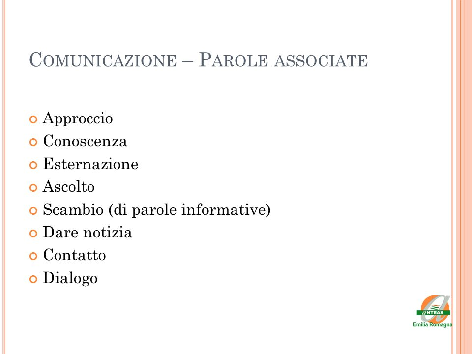 Comunicazione – Parole associate