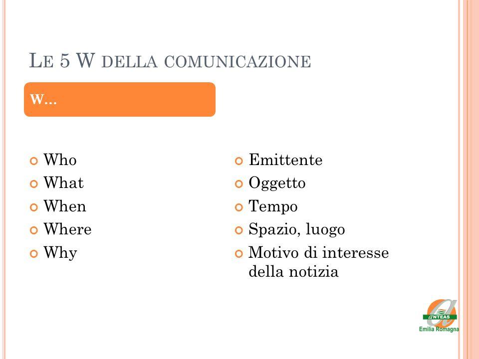 Le 5 W della comunicazione