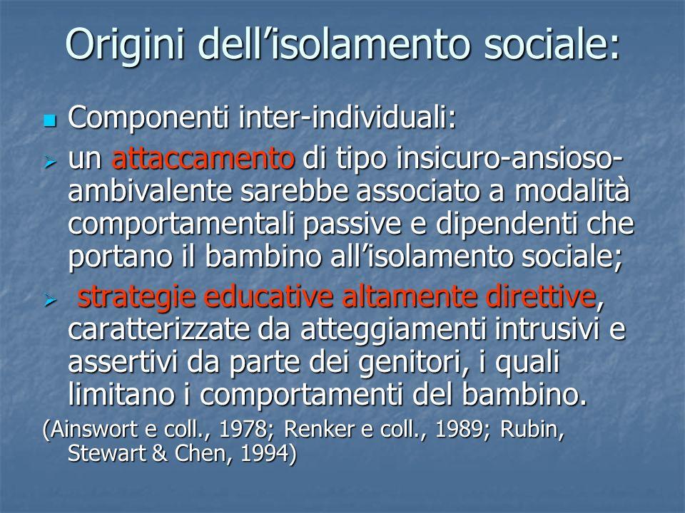 Origini dell'isolamento sociale: