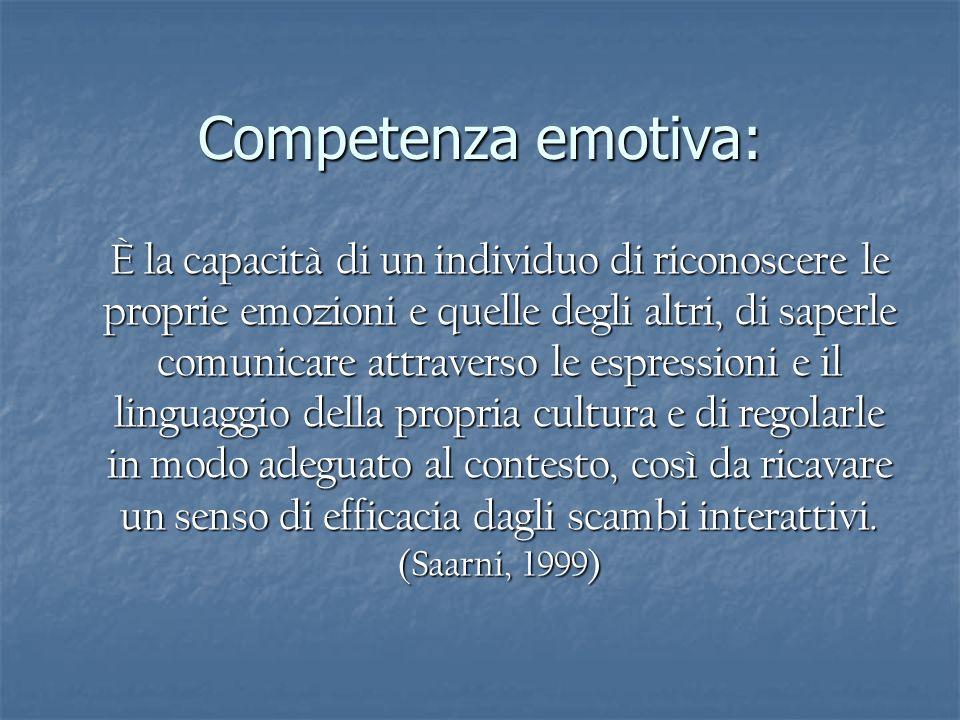 Competenza emotiva: