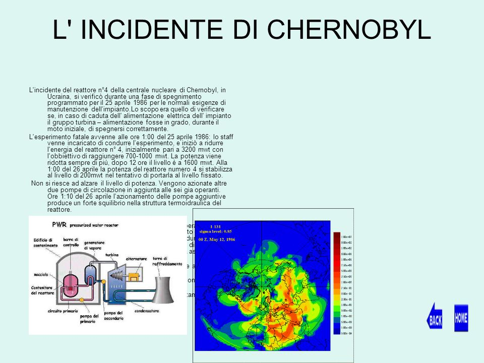 L INCIDENTE DI CHERNOBYL