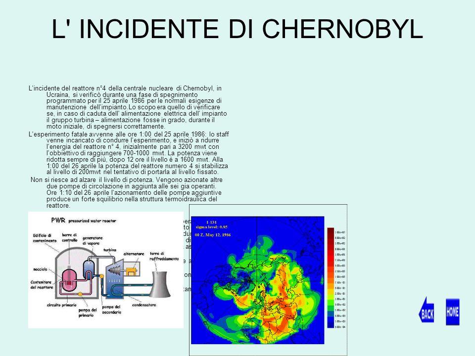 L INCIDENTE DI CHERNOBYL