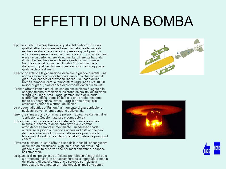 EFFETTI DI UNA BOMBA