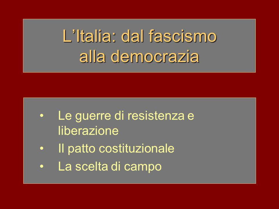 L'Italia: dal fascismo alla democrazia