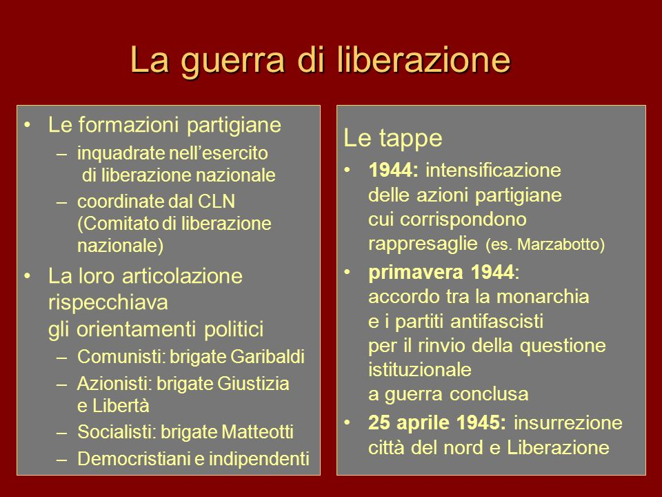 La guerra di liberazione