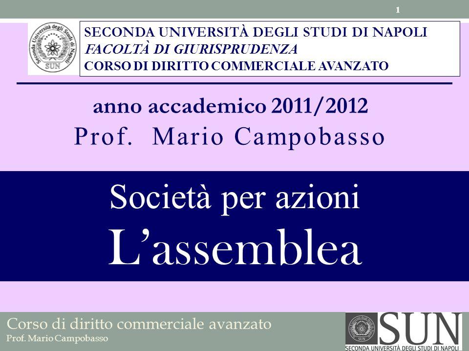 L'assemblea Società per azioni Prof. Mario Campobasso