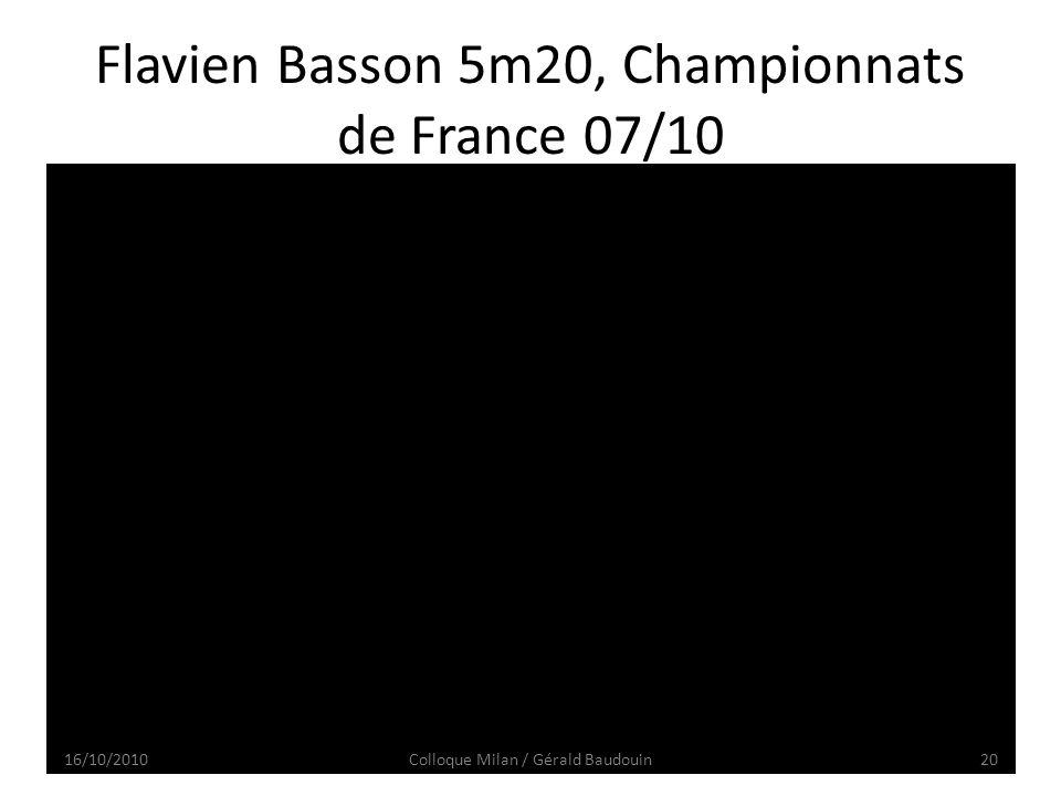 Flavien Basson 5m20, Championnats de France 07/10