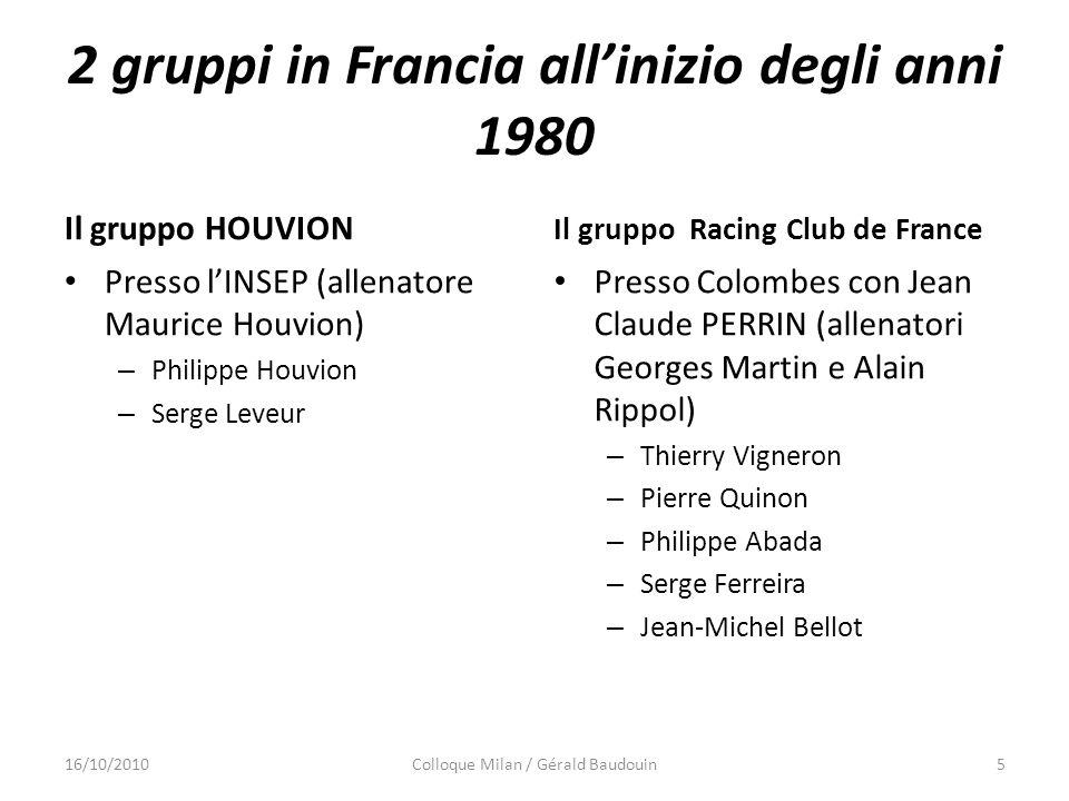 2 gruppi in Francia all'inizio degli anni 1980