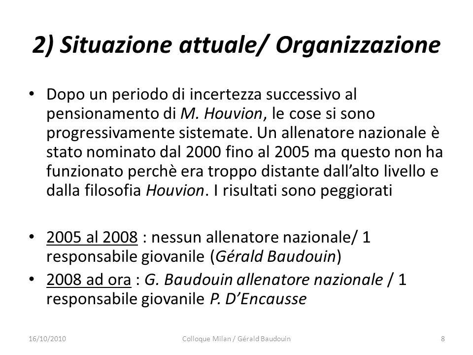 2) Situazione attuale/ Organizzazione