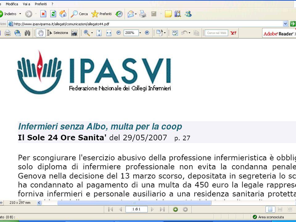 Antonio Casadei - Infermiere Relazione-12/9/2007