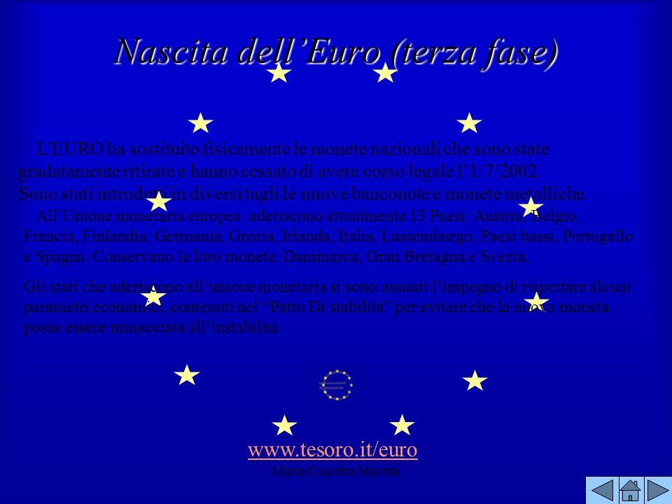 Nascita dell'Euro (terza fase)