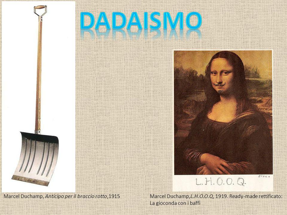 Dadaismo Marcel Duchamp, Anticipo per il braccio rotto,1915