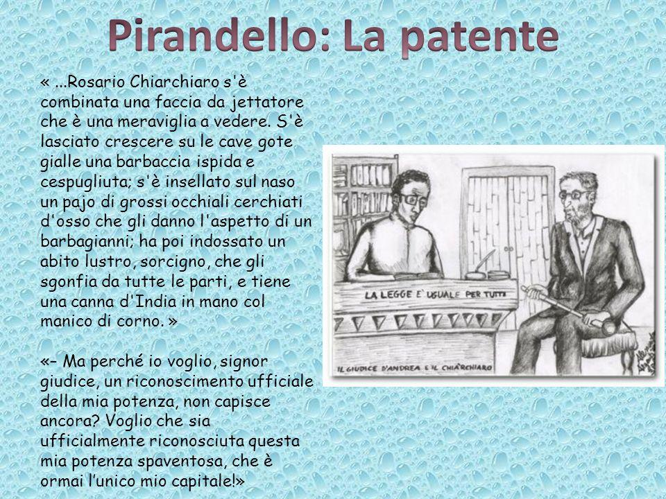 Pirandello: La patente