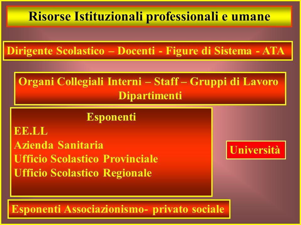 Risorse Istituzionali professionali e umane