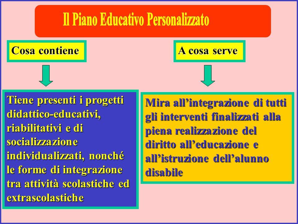 Il Piano Educativo Personalizzato