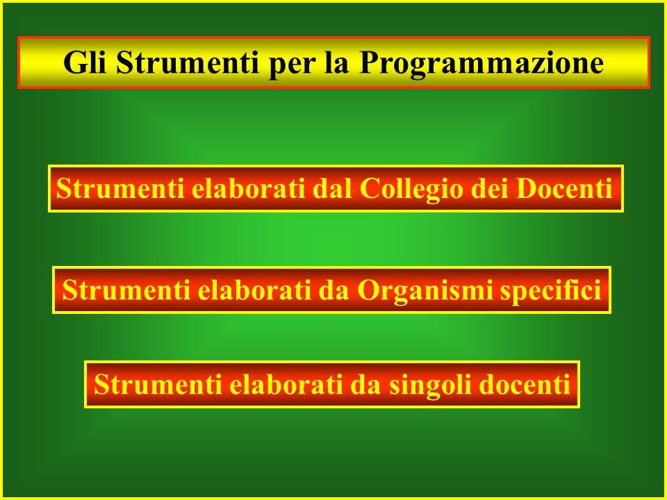 Gli Strumenti per la Programmazione